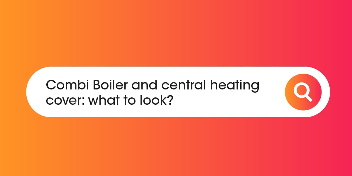Combi boiler and central heating cover