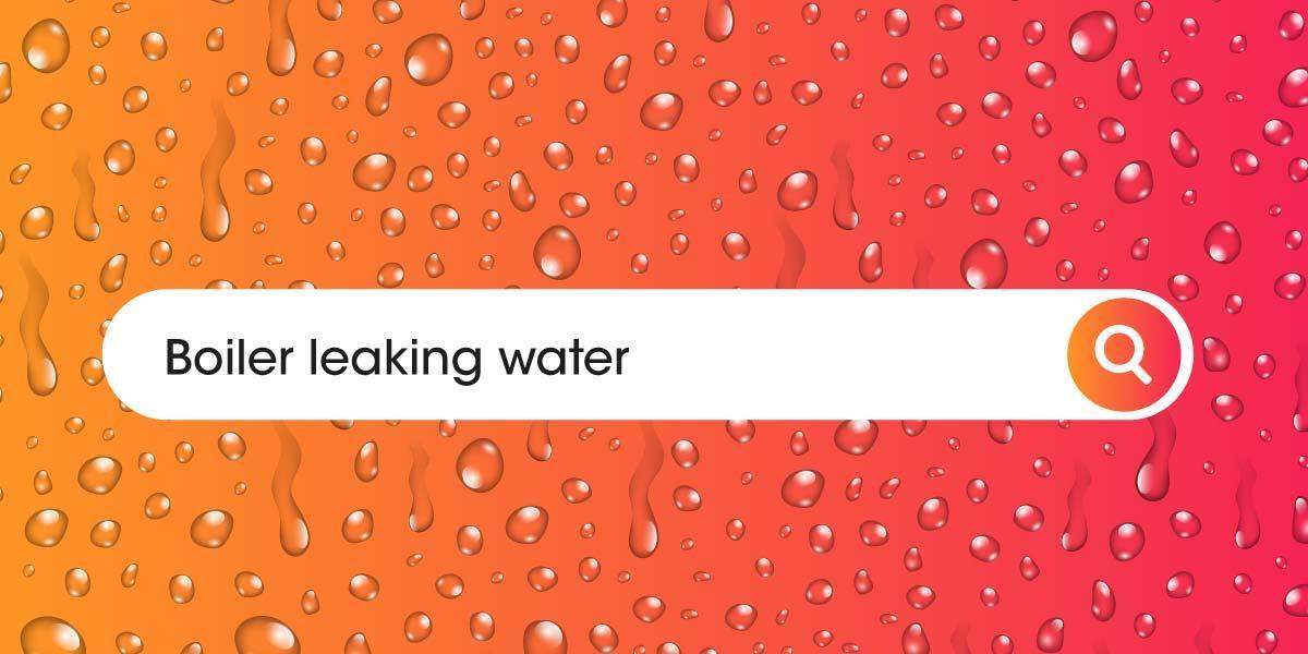 Boiler leaking water
